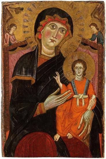 Madonna and Child Enthroned with Two Angels--Giclee Print