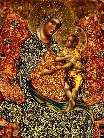 Madonna and Child Enthroned with Two Angels-Paolo Veneziano-Giclee Print