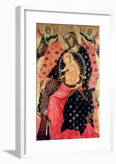 Madonna and Child Enthroned with Two Devout People-Paolo Veneziano-Framed Giclee Print