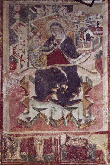Madonna and Child Fresco in the Church of St Francis, Amatrice, Italy--Giclee Print