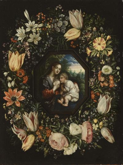 Madonna and Child in a Garland of Flowers, C.1625-Jan Brueghel and Hendrik van Balen-Giclee Print