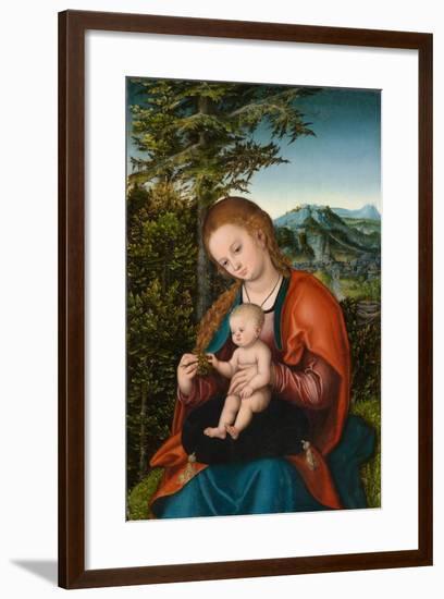 Madonna and Child in a Landscape, c.1518-Lucas, The Elder Cranach-Framed Giclee Print