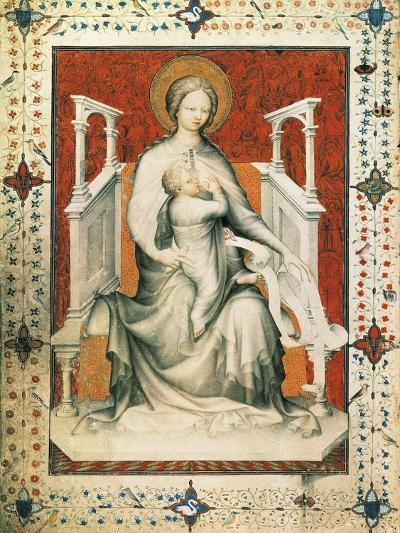 Madonna and Child, Miniature from the Very Rich Hours of the Duke of Berry, France 15th Century--Giclee Print