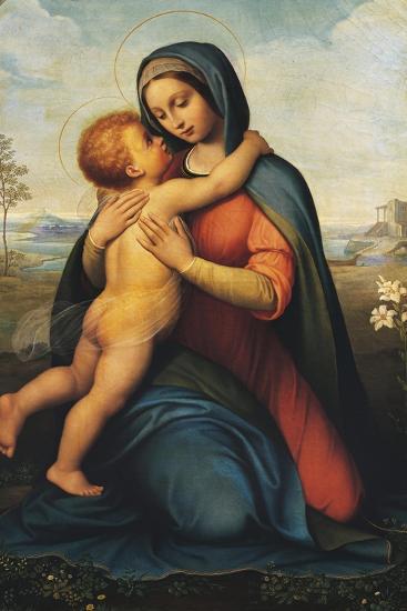 Madonna and Child or Madonna Del Giglio--Giclee Print