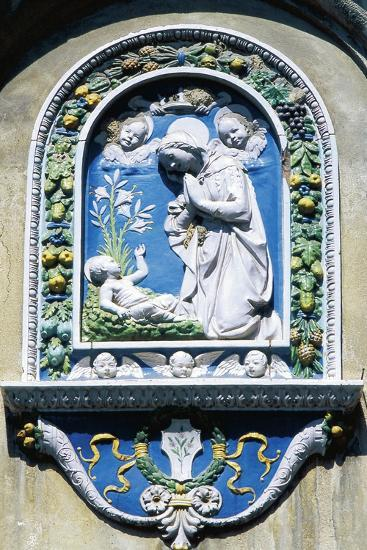 Madonna and Child, Painted Majolica, Asolo, Veneto, Italy--Giclee Print