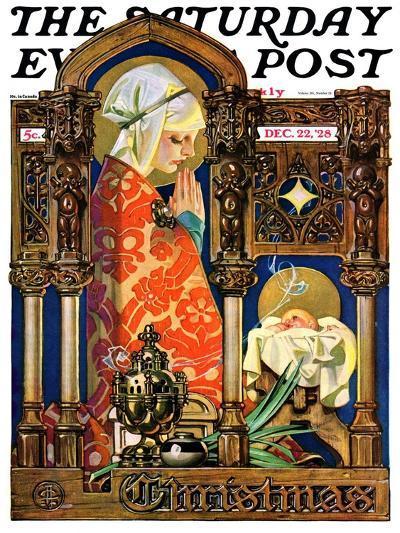 """Madonna and Child,"" Saturday Evening Post Cover, December 22, 1928-Joseph Christian Leyendecker-Giclee Print"
