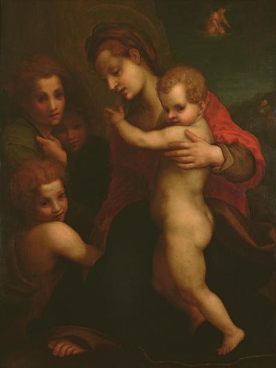 Madonna and Child, St. John and Two Angels-Andrea del Sarto-Giclee Print