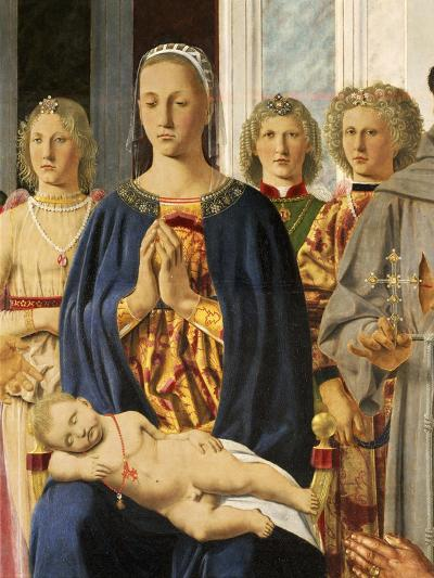 Madonna and Child Surrounded by Angels--Giclee Print