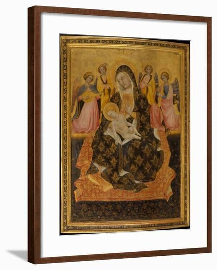 Madonna and Child with Angels, 1420-Pietro di Domenico da Montepulciano-Framed Giclee Print