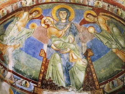 Madonna and Child with Angels and Saints--Giclee Print