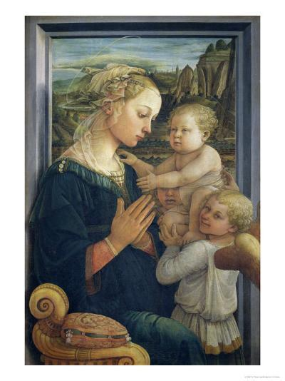 Madonna and Child with Angels, c.1455-Fra Filippo Lippi-Giclee Print