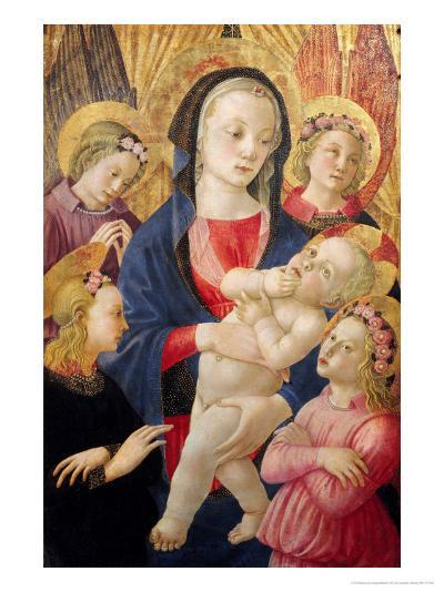 Madonna and Child with Angels- Master Of The Castello Nativity-Giclee Print