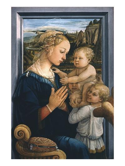 Madonna and Child with Angels-Filippo Lippi-Giclee Print