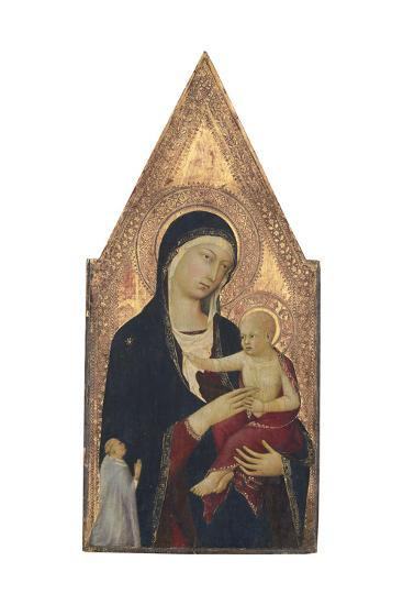 Madonna and Child with Donor, 1325-30-Lippo Memmi-Giclee Print