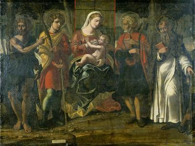 Madonna and Child with John the Baptist, Anthony and Other Saints, 1534--Giclee Print
