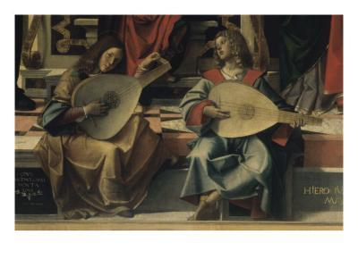 Madonna and Child with Saint Andre-Bartolomeo Montagna-Giclee Print