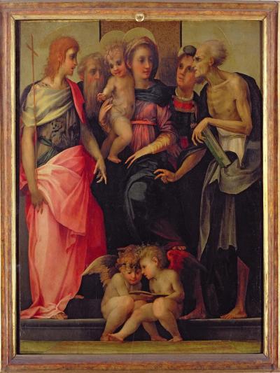 Madonna and Child with Saints, c.1518-Rosso Fiorentino (Battista di Jacopo)-Giclee Print