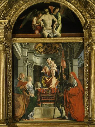Madonna and Child with Saints (Including Christina of Bolsena, 3rd Century Virgin and Martyr), 1507-Lorenzo Lotto-Photographic Print