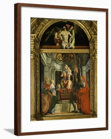Madonna and Child with Saints (Including Christina of Bolsena, 3rd Century Virgin and Martyr), 1507-Lorenzo Lotto-Framed Photographic Print