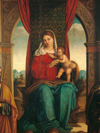 Madonna and Child with Saints James of Galicia and Helena-Niccol Bartolomeo-Photographic Print
