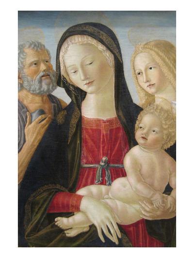 Madonna and Child with Saints Jerome and Mary Magdalene,-Neroccio Di Landi-Art Print