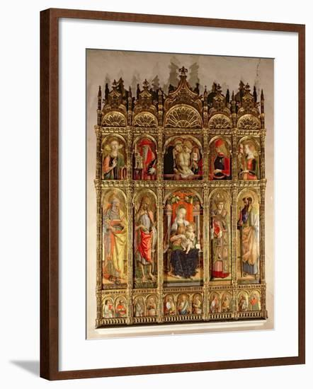 Madonna and Child with Saints, Polyptych, 1473-Carlo Crivelli-Framed Giclee Print