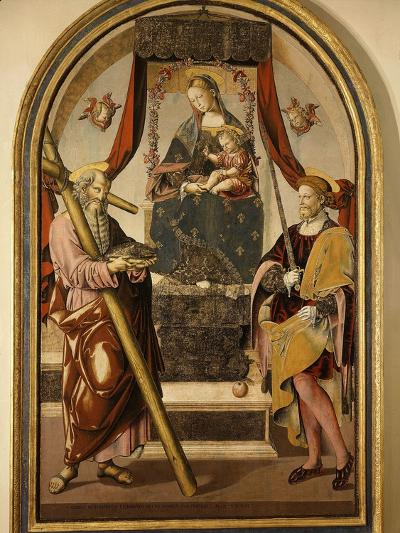 Madonna and Child with Saints-Bernardo Bellotto-Giclee Print
