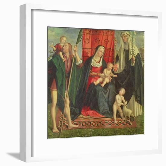 Madonna and Child with Saints-Galeazzo Campi-Framed Giclee Print