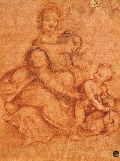 Madonna and Child with St Anne-Cesare da Sesto-Giclee Print