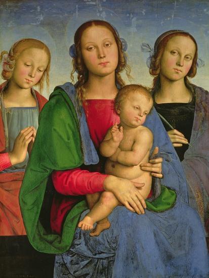 Madonna and Child with St. Catherine and St. Rosa, 1493-Pietro Perugino-Giclee Print