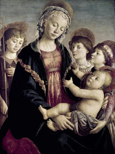 Madonna and Child with St. John Baptist and Two Angels, c.1468-Sandro Botticelli-Giclee Print