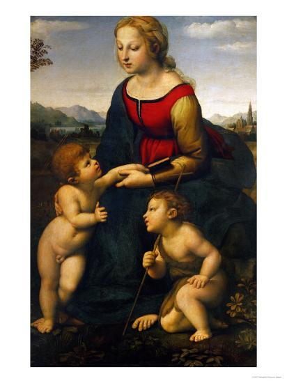Madonna and Child with St. John the Baptist, 1507-Raphael-Giclee Print