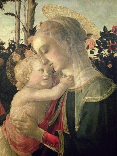 Madonna and Child with St. John the Baptist, Detail of the Madonna and Child-Sandro Botticelli-Giclee Print