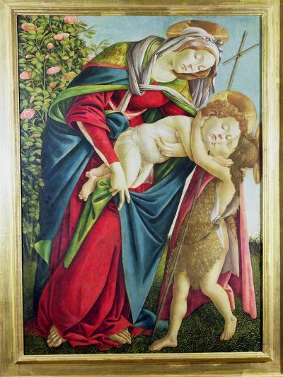 Madonna and Child with St. John the Baptist-Sandro Botticelli-Giclee Print