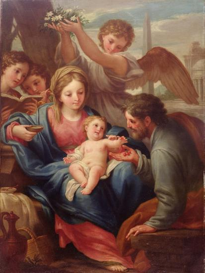 Madonna and Child with St. Joseph, or the Rest on the Flight into Egypt-Francesco Mancini-Giclee Print