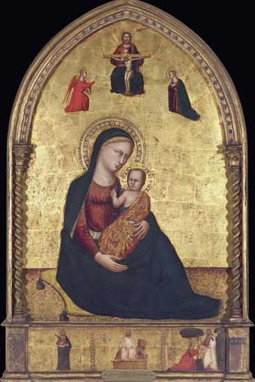 Madonna and Child with the Holy Trinity and the Annunciation-Lorenzo Di Bicci-Photographic Print