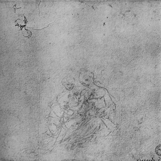 'Madonna and Child with the Infant St. John and an Angel', c1475 (1945)-Leonardo da Vinci-Giclee Print