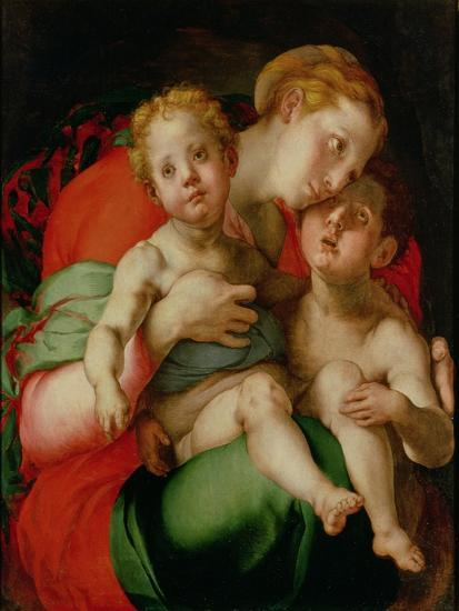 Madonna and Child with the Infant St. John the Baptist-Jacopo da Carucci Pontormo-Giclee Print
