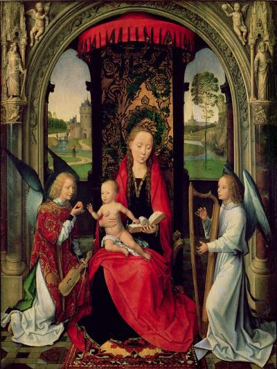 Madonna and Child with Two Angels-Hans Memling-Giclee Print