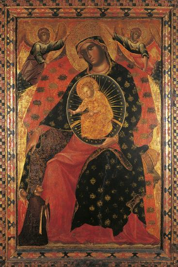Madonna and Child with Two Votaries-Paolo Veneziano-Giclee Print