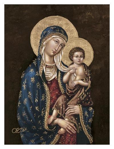 Madonna and Child-Joe Ortiz-Art Print