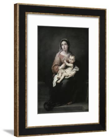 Madonna and Child-Bartolome Esteban Murillo-Framed Giclee Print