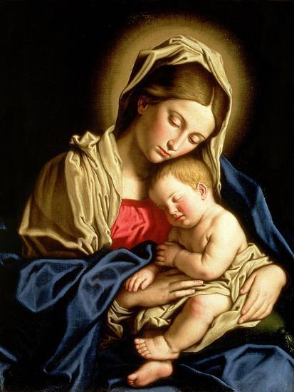 Madonna and Child-Giovanni Battista Salvi da Sassoferrato-Premium Giclee Print