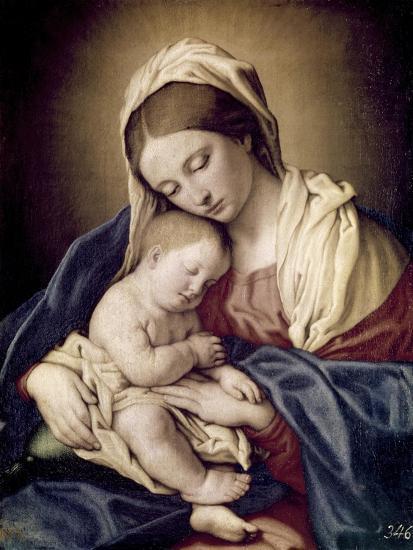 Madonna and Child-Giovanni Battista Salvi da Sassoferrato-Giclee Print