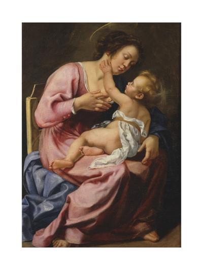 Madonna and Child-Artemisia Gentileschi-Giclee Print