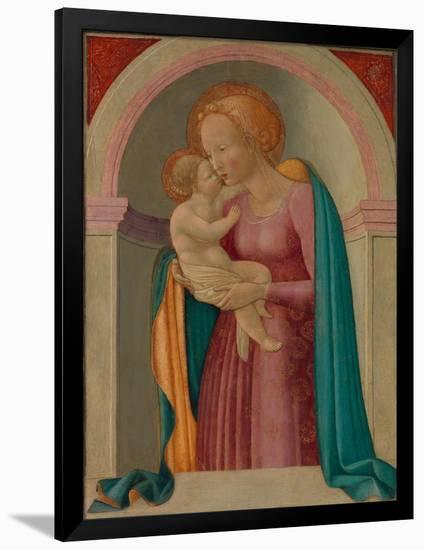 Madonna and Child- Master of the Lanckoronski Annunciation-Framed Giclee Print