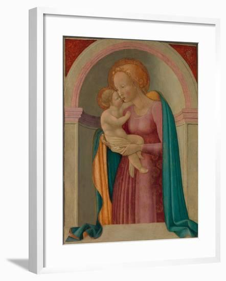 Madonna and Child- Master of the Lanckoronski Annunciation-Framed Giclee Print