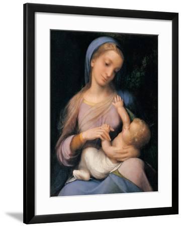 Madonna Campori (Madonna and Child)-Correggio-Framed Art Print
