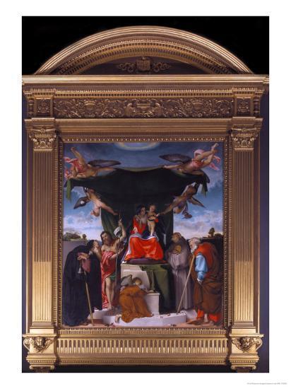 Madonna Del Baldacchino-Lorenzo Lotto-Giclee Print
