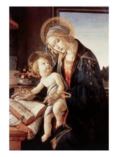 Madonna Del Libro-Sandro Botticelli-Giclee Print